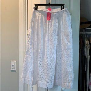 Lilly Pulitzer Pier midi skirt-resort white